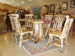 Log Dining Room Table Dining Table Cool Rustic Dining Room Decoration Ideas Using
