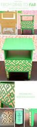 Old Furniture Makeovers From Drab To Fab Furniture Makeovers Using Stencils Stencil Stories