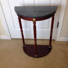 Half Moon Accent Table Find More Half Moon Plant Stand Or Accent Table With Green Marble