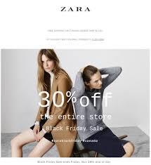 zara canada black friday starts tonight 30 50 free shipping