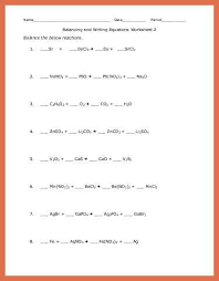 balance chemical equations worksheet bio example