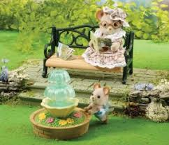Sylvanian Families Garden - buy fountain u0026 garden bench online sylvanian families