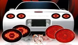 corvette exhaust plate lights corvette led lighting c5 exhaust