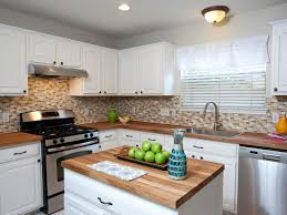 Backsplashes For White Kitchen Cabinets Kitchen White Kitchens Cabinets Natural Stone Tile Backsplash