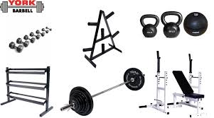Weights And Bench Package York Silver Package Gym Equipment Sets York Barbell
