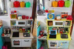 ikea cuisine enfants création de tiroirs de rangement sous mini cuisine duktig ikea