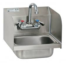 stainless steel hand sink wall mount wall mount hand sink with welded splash guards gsw