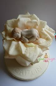 top that newborn baby christening shower welcome cake