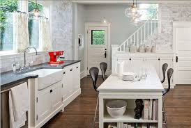 Kitchen Cabinets French Country Kitchen by White Kitchen Bench Island Metal Stools French Country Kitchen