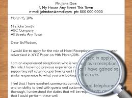 Sample Of A Cover Letter For A Job Application by How To Write A Cover Letter To A Hotel With Pictures Wikihow