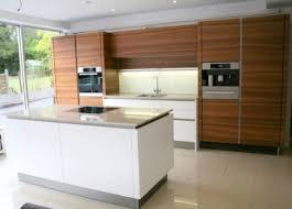 ex display kitchen island intuo walnut and matt white lacquer kitchen island and appliances