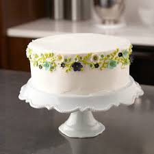 party cake with fondant flowers wilton
