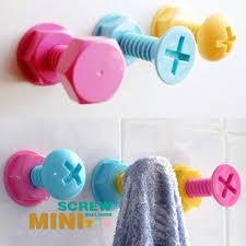 50 off yohee 3 pcs candy color adhesive wall hook bathroom