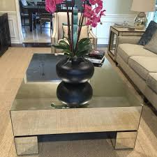 Best The Estelle Mirrored Coffee Table By Bernhardt Measurements