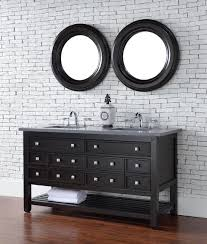 abstron 60 inch espresso double sink transitional bathroom vanity