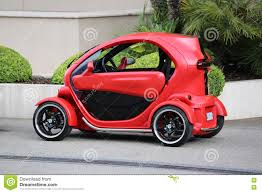 twizy renault rode en zwarte elektrische auto renault twizy in monte carlo