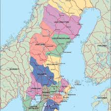 map of sweden sweden maps vector wall maps made in barcelona from netmaps