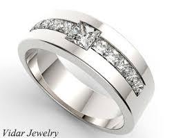 mens diamond wedding ring trillion cut diamond wedding band for a men in 14k black gold