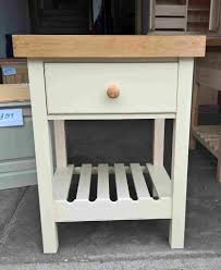 solid pine butchers block with thick oak top can be painted to