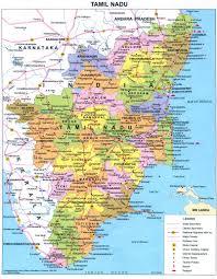 India Maps by Tamil Nadu Political Map Tamil Nadu India U2022 Mappery