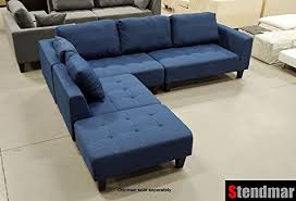 Denim Sectional Sofa 2015 New Multifunction Sectional Sofa In Blue Jean Fabric S160b 0