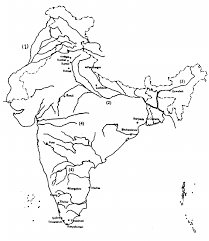 India Blank Outline Map by Rivers Of India Map Outline Character Analysis Essay Outline
