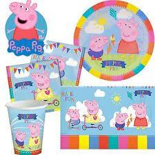 peppa pig party supplies peppa pig birthday child party plates ebay