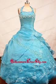 impressive halter top pageant dress for kids with ruche and