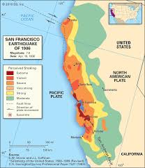 San Francisco California Map by Earthquake Maps On Behance