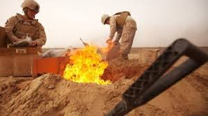 Burning Pit Of Fire - the military u0027s burning of hazardous waste was more dangerous than