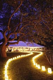 Lighten Up Wedding Path with Decorative Lights – WeddCeremony
