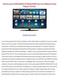 samsung un32eh5300 un32eh5300f service manual by ieshagibbons issuu