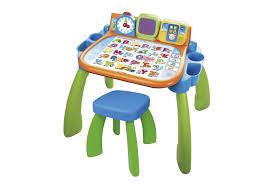 Kleinen Schreibtisch Kaufen Vtech Magischer Schreibtisch Mit Hocker Und Led Bildschirm 3in1