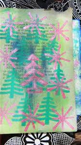christmas crafts handmade decorations block printing