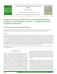 bureau ude structure impacts of energy subsidy reforms on the pdf available