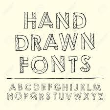 schrift design einfachheit gezeichnet design schriften über beige