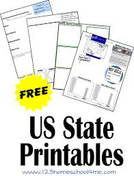 free us state printable worksheets us states printables and