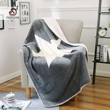canap molletonn parkshin blanc blanket élégant sherpa confortable jette