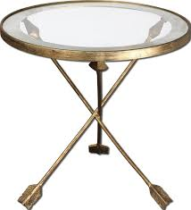 Patio Accent Table by Aero Accent Table With Feathered Arrow Legs By Uttermost Wolf
