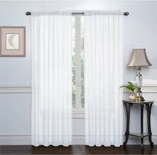 set of 2 sheer voile window curtain panels 84