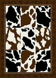 Western Style Area Rugs Add Western Style To Your Home With This Cowhide Print Area Rug