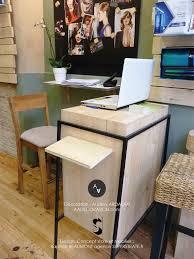 mini bureau coin bureau nature avec mini bureau en bois et murs verts