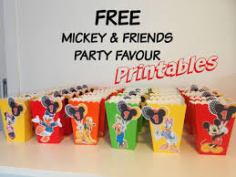 how to make mickey mouse inspired popcorn favour boxes with free