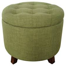 Green Ottoman Green Tufted Storage Ottoman Decor By Color