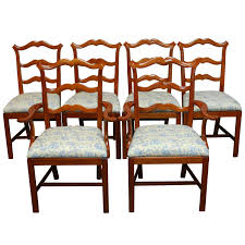 Chippendale Dining Room Chairs Chippendale Ladder Back Toile Dining Chairs For Sale At 1stdibs