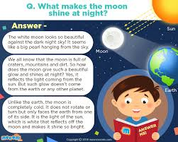why does the moon shine at answer me mocomi