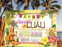 luau invitations hawaiian luau birthday invitation