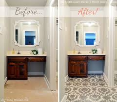 bathroom wall stencil ideas 81 best before and after stencils images on design
