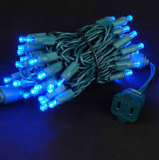 wide angle blue 50 bulb led lights sets 11