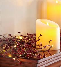 lighted garland greenery plow hearth